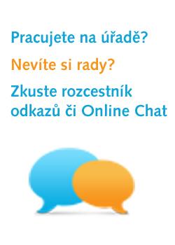 Využijte rozcestník odkazů nebo Online Chat